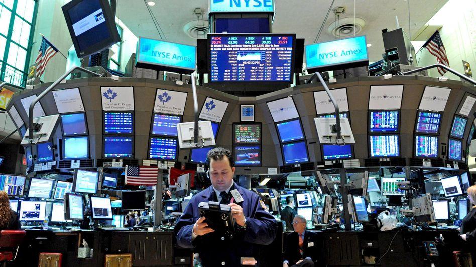 Händler an der Börse in New York: Die Stimmung zum Jahresauftakt ist gut