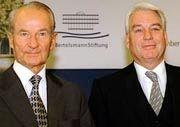 Reinhard Mohn (l.) und sein ehemaliger bester Mann Mark Wössner (r.)
