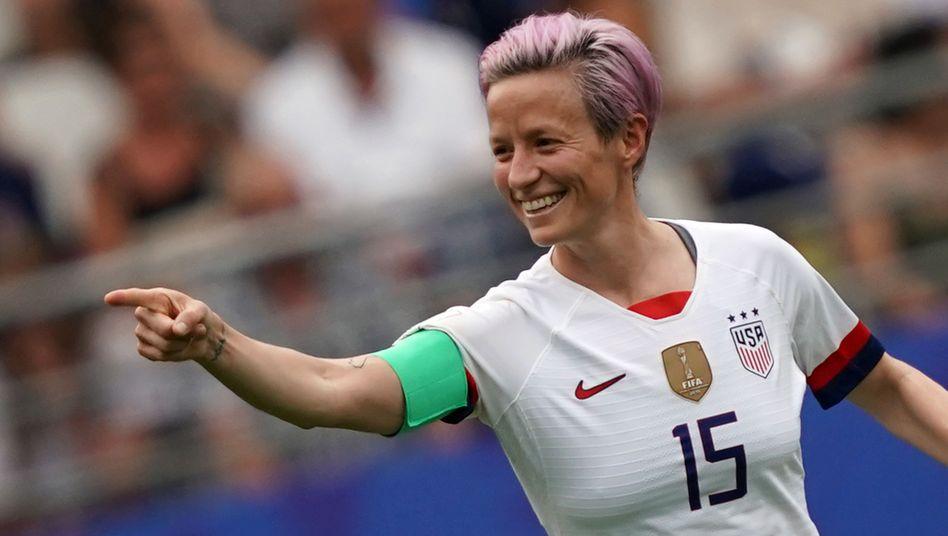 Megan Rapinoe, Kapitänin des Nationalteams der USA und beste Spielerin des WM-Turniers