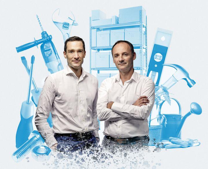Heimwerker-Kings: Die Plattform von De Chanville (l.) und Raisson wuchs 2019 um mehr als 50 Prozent.