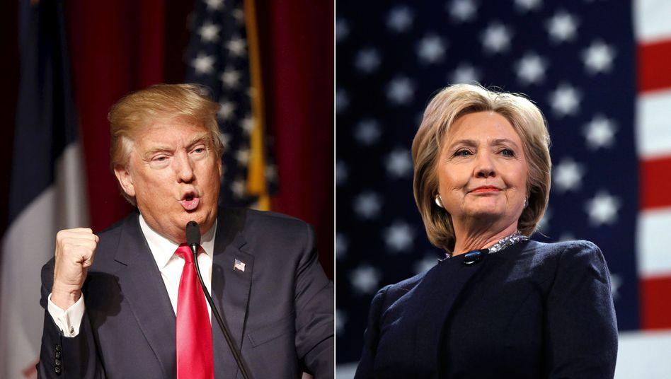 Trump und Clinton: Präsidentschaftskandidaten wie sie gegensätzlicher nicht sein können