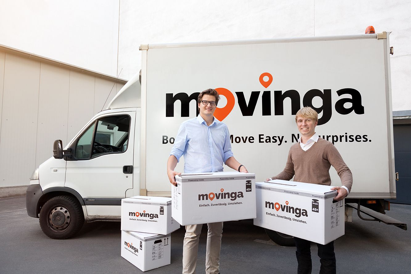 movinga - Die Gründer Bastian Knutzen (r) und Chris Maslowski (l)