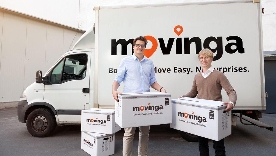 Movinga-Gründer Bastian Knutzen (r) und Chris Maslowski (l)