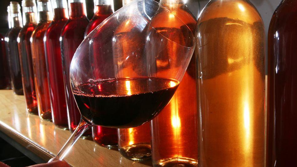 Kostbares Gut: Der Wein ist noch genießbar
