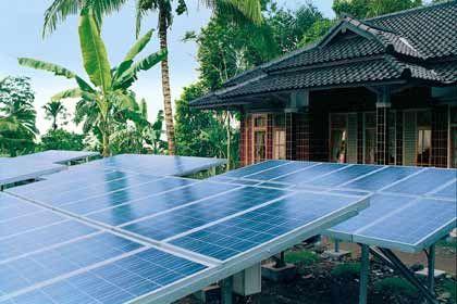 Zukunftstechnik: Solaranlage in Asien