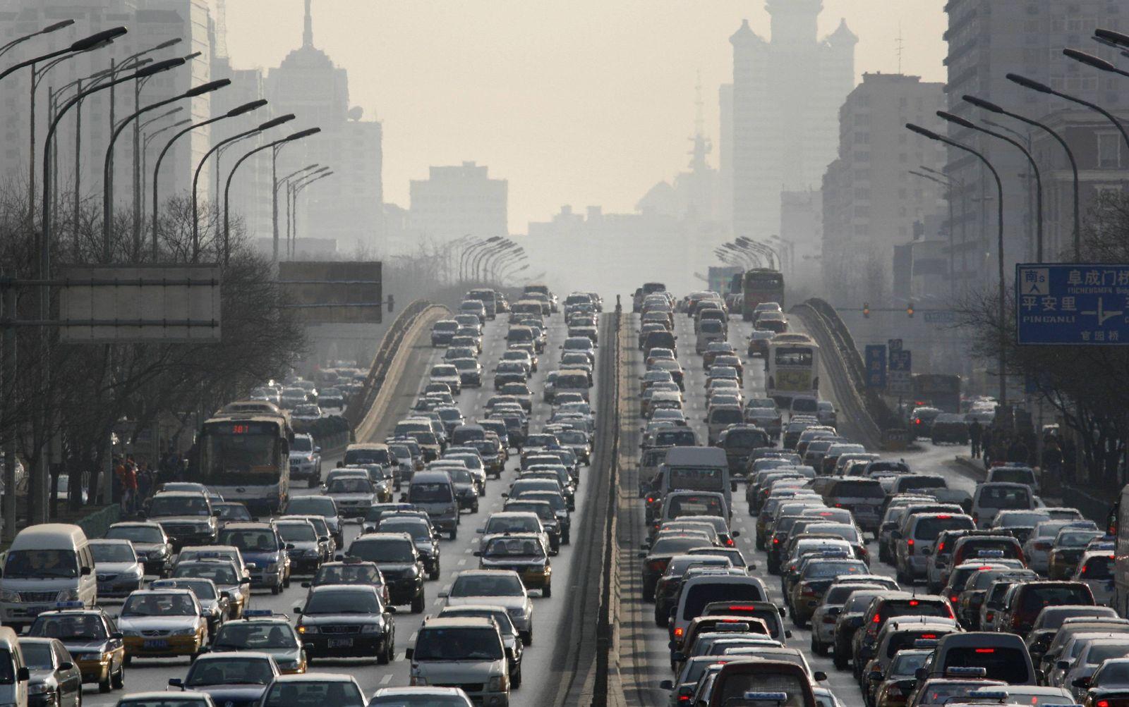 China Luftverschmutzung Autos