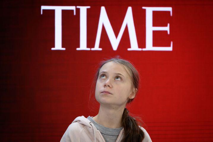 Greta Thunberg während einer Session im Kongress-Zentrum des Weltwirtschaftsforums in Davos