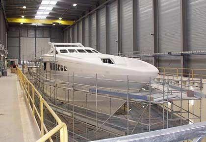 """Im Bau: Für die Yacht """"Buka"""" übernahm Beiderbeck Designs das Projektmanagement."""