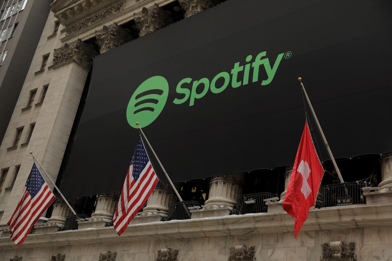 Spotify Flagge Schweiz Wall Street