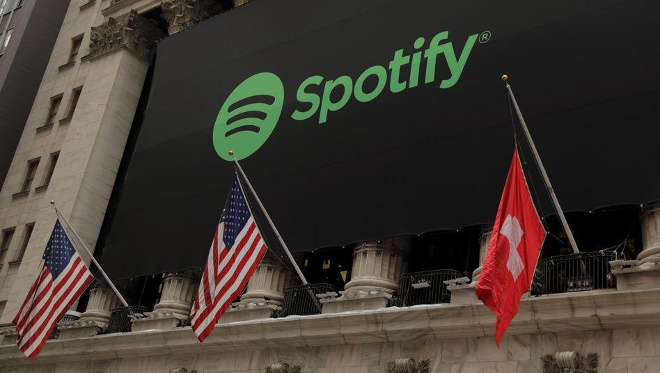 Schweiz statt Schweden: Beim Spotify-Börsengang hisste die New Yorker Börse zeitweise die falsche Flagge
