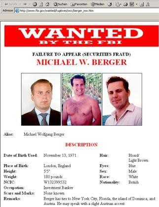 Der Absturz des Investmentbankers: Berger wurde seit fünf Jahren vom FBI gesucht