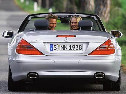 Entzückender Hintern: Die meisten Autofahrer werden den SL wahrscheinlich aus dieser Perspektive betrachten