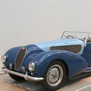Ein Traum in Blau: Das Bugatti-Cabrio von 1936 gehörte dem Reifenmagnaten Pierre Michelin