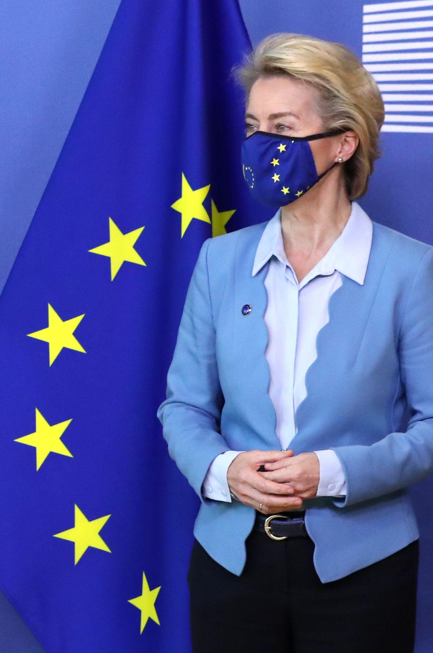 New Belgian PM De Croo is welcomed by EC President Ursula von der Leyen in Brussels