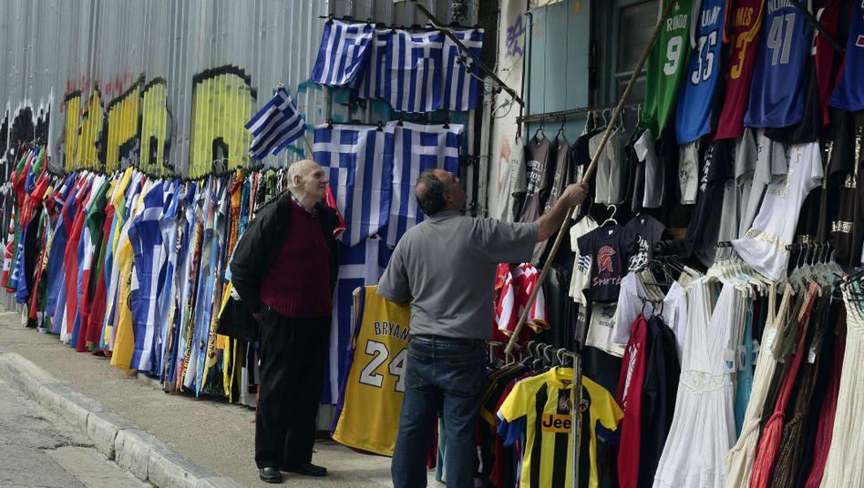 Straßenverkäufer in Athen: Der Schuldenstreit ist festgefahren
