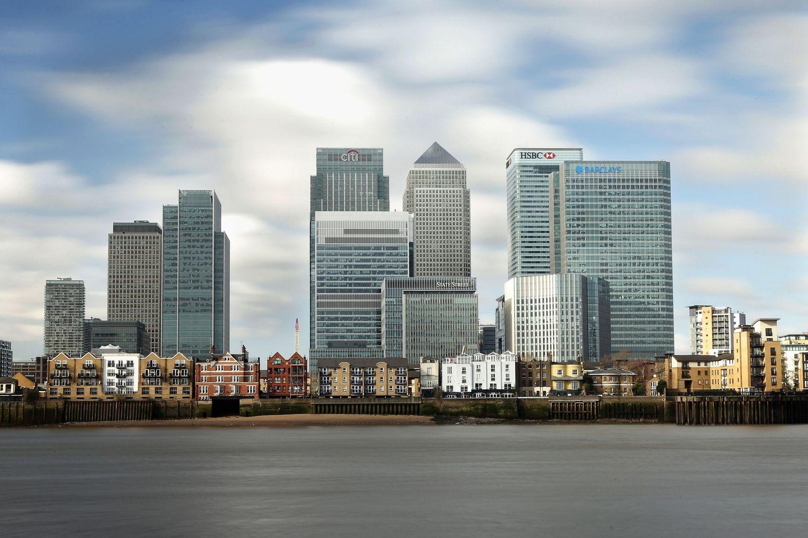 England / London / Banken-Viertel / Konjunktur / England / Brexit HSBC / Citi Group