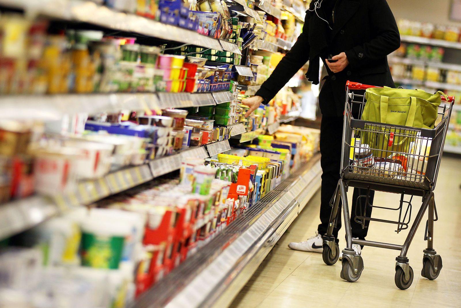Lebensmittel / Lebensmittel-Regal / Preis / Inflation / Preise