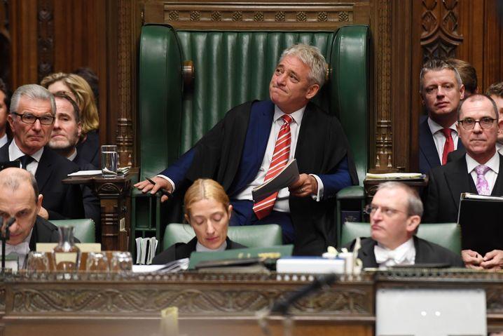 John Bercow, Sprecher des Unterhauses, an seinem letzten Arbeitstag (30. Oktober 2019)