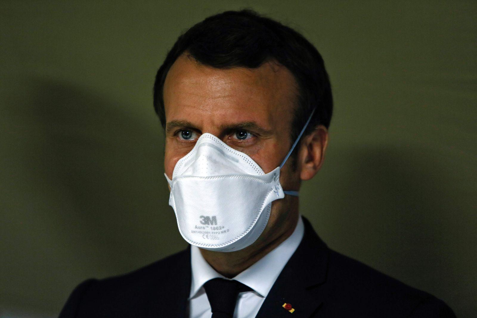 Emmanuel Macron / Coronavirus / Schutzmaske