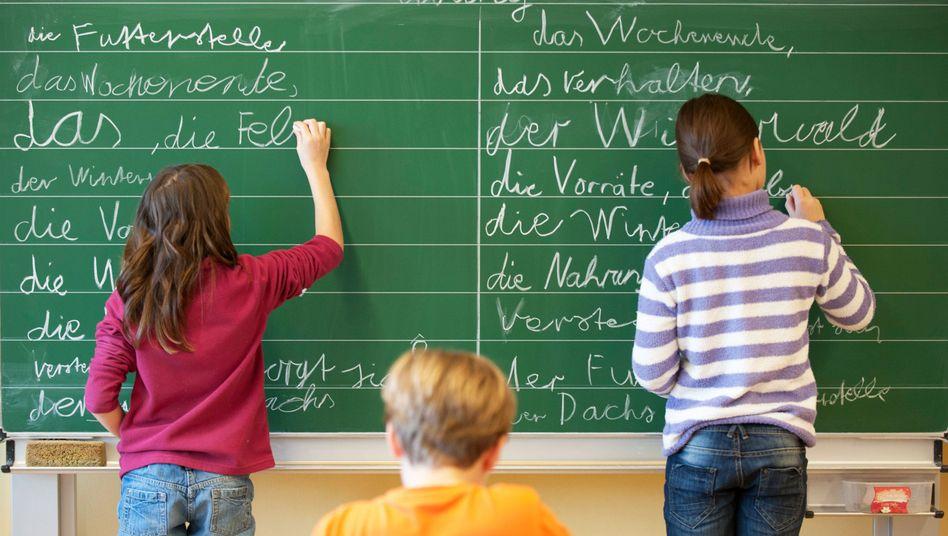 Grundschülerinnen im hessischen Pfungstadt: Wirtschaft nach Studien besorgt