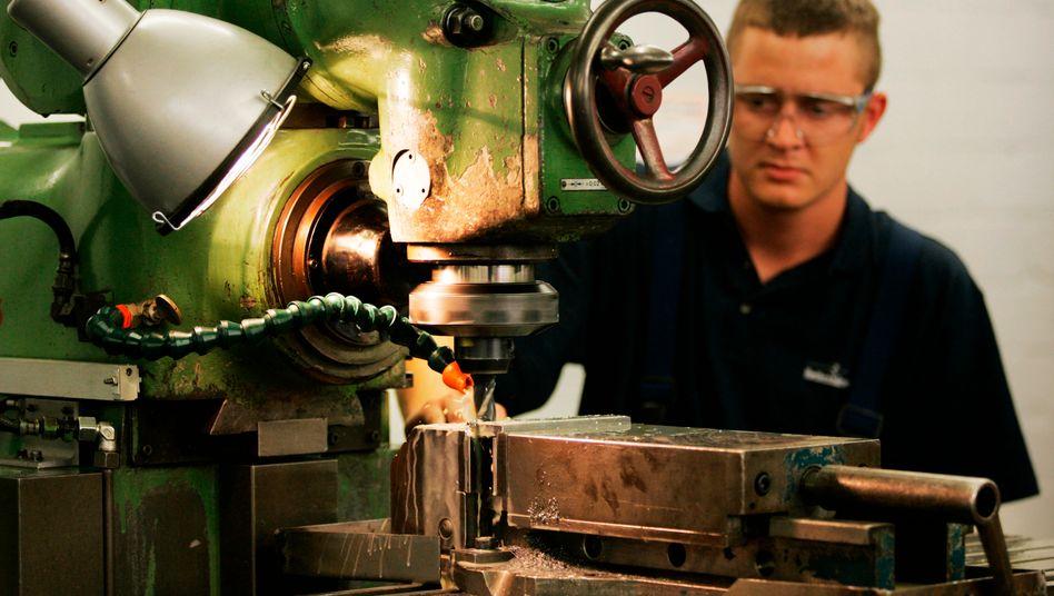 Maschinen- und Anlagenbauer in Deutschland meldeten im Mai sogar ein leichtes Wachstum von 0,3 Prozent