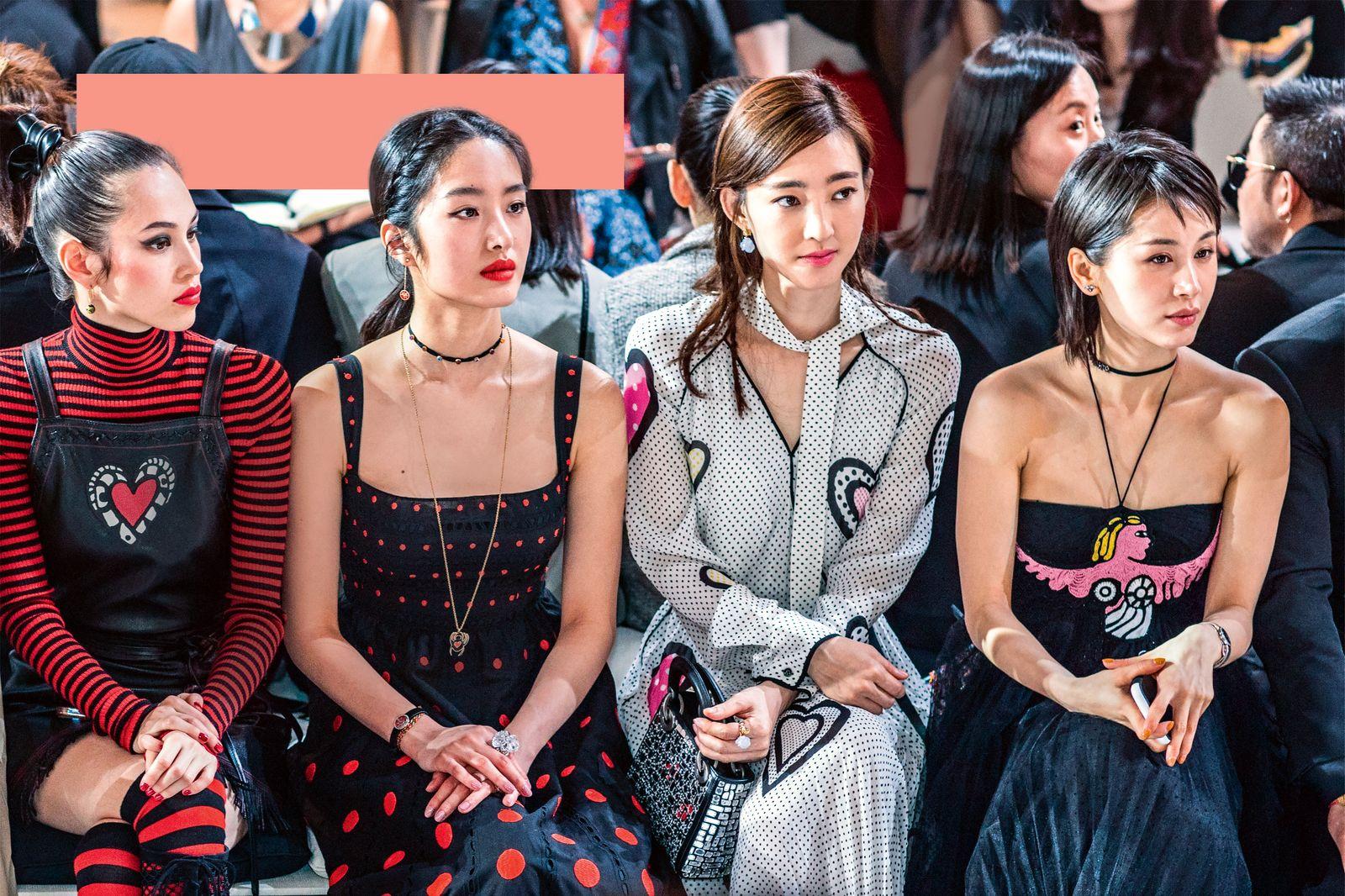 EINMALIGE VERWENDUNG Stars Attend Christian Dior S/S 2018 Show