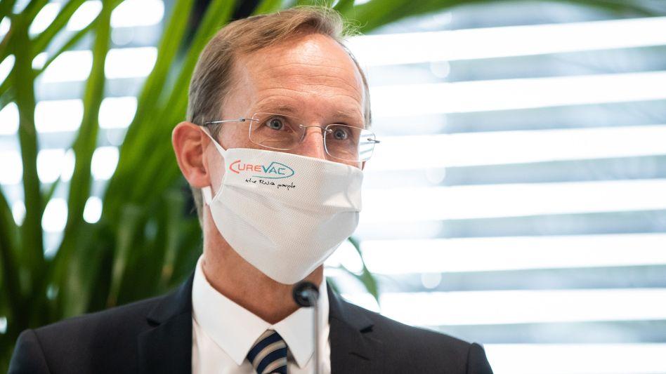 Versucht sich in Schadensbegrenzung: Franz-Werner Haas, Vorstandschef von Curevac, zählt weiterhin auf die Unterstützung von SAP-Mitgründer Dietmar Hopp
