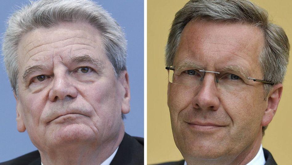 Kandidaten Joachim Gauck, Christian Wulff: Eine Niederlage Wulffs wäre vor allem eine Niederlage für Guido Westerwelle