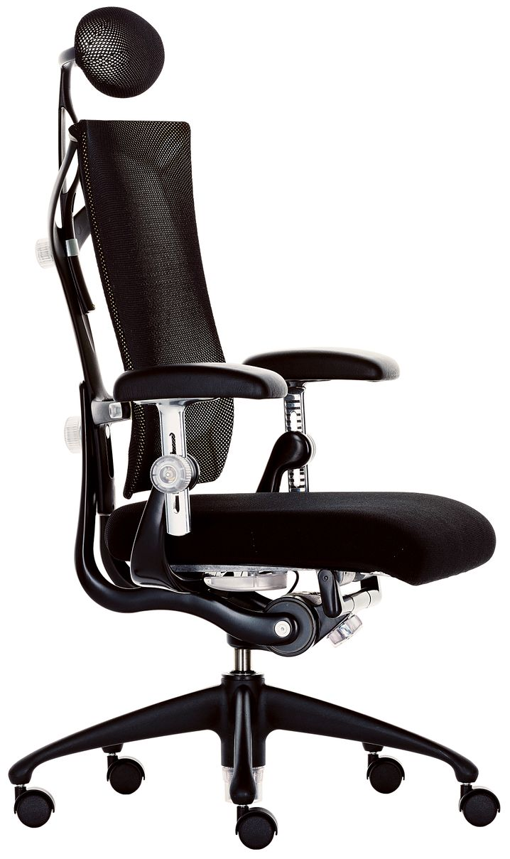 """Beweglich: Mario Bellinis """"Ypsilon""""-Stuhl ist in fast jede Position verstellbar und verfügt zudem über eine Garderobenbügel-Ergänzung für Freunde knitterfreier Sakkos"""