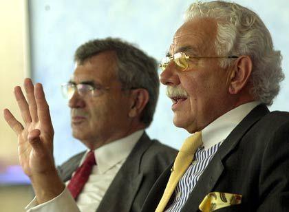 Geben das Unternehmen in familienfremde Hände: Baldwin (l.) und Nikolaus Knauf