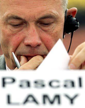 Sorgenvolle Miene: WTO-Chef Pascal Lamy