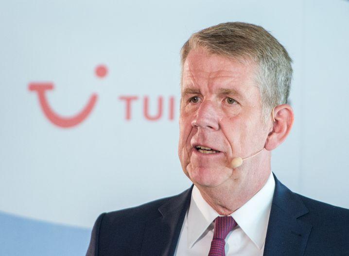 Fritz Joussen, CEO des Reisekonzerns Tui, will Staatsgarantien beantragen