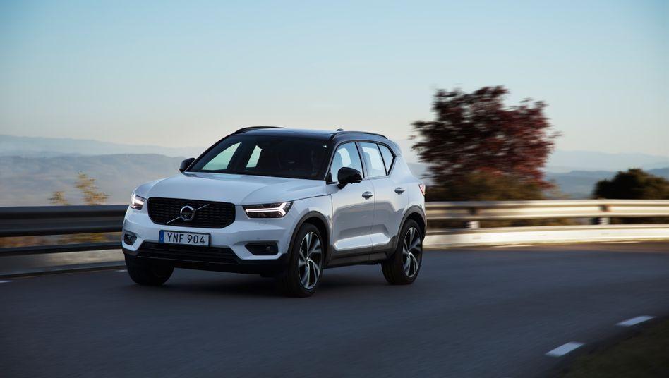 Volvos Kompakt-SUV XC40 gibt es künftig auch mit reinem E-Antrieb - und über 400 Kilometern Reichweite