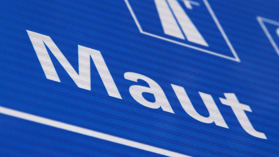 Maut-Schild in Österreich: Deutschland will 2016 mit der Maut starten