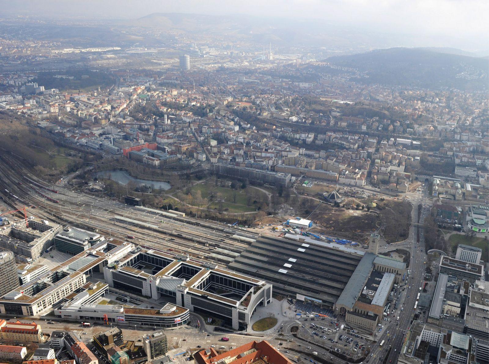 NICHT VERWENDEN Stuttgart 21 / Baustelle / Luftbild