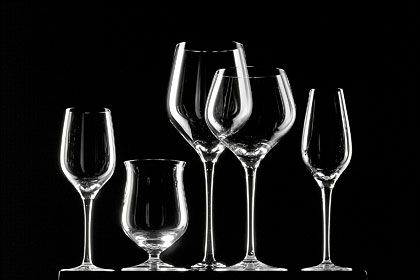 """Schlicht und schön: Die Weinglas-Serie """"Fuga"""" von Rosenthal zählt zu den Klassikern und wurde gerade einer behutsamen Verjüngungskur unterzogen"""
