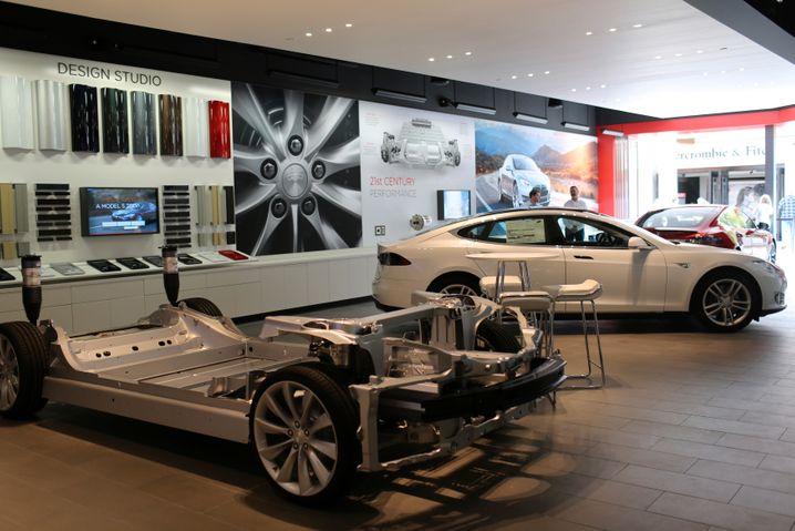 Tesla-Showroom in Kalifornien