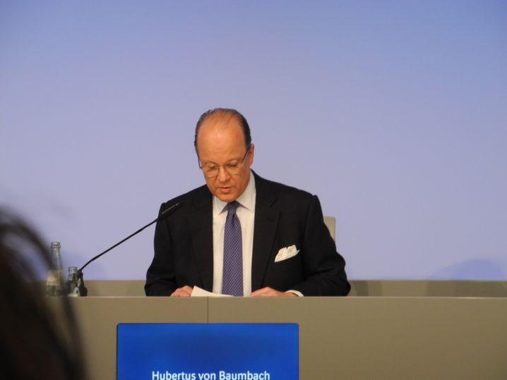Hubertus von Baumbach, Chef von Boehringer.