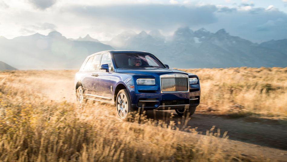 Rolls-Royce-SUV Cullinan: Mit reinem Elektroantrieb lassen sich die Briten noch eine Dekade Zeit