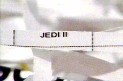 Ein Aktenschnipsel, der vom Gericht zum Fall Enron sichergestellt wurde (Quelle: ABC News)