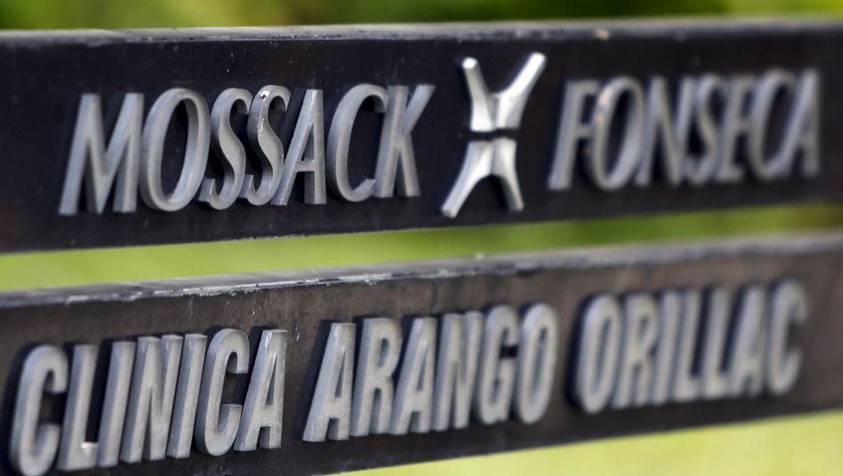 Mossack-Fonseca-Firmenschild in Panama