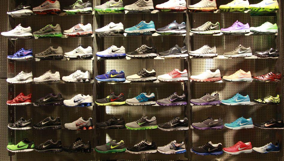 Nike-Laufschuhe, aufgebahrt: Derzeit offenbar gefragt