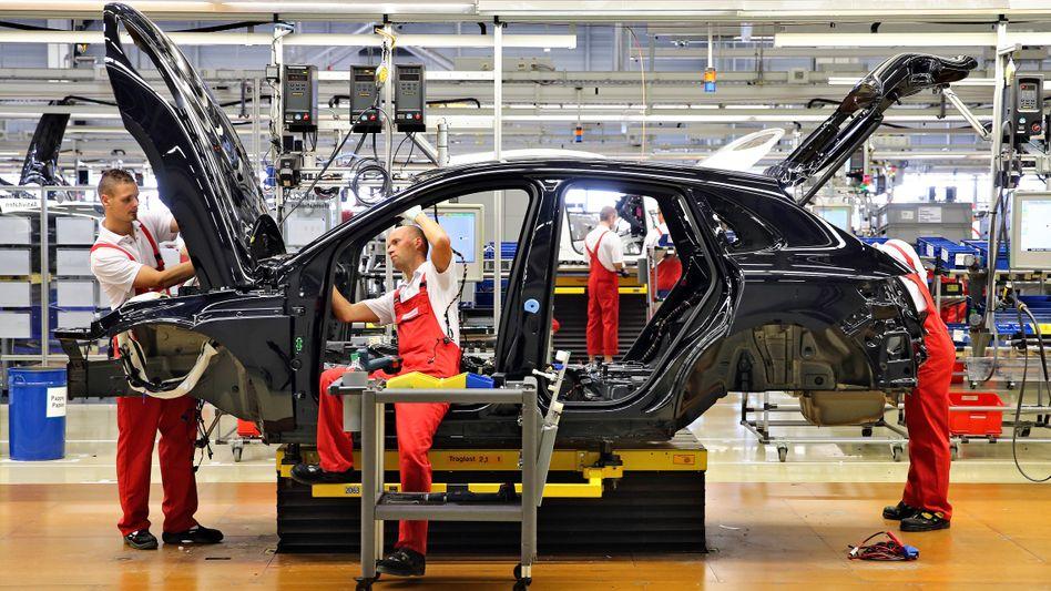 Vorzeigeindustrie: Die Automobilbranche schwächelt