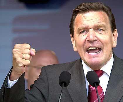 Will die Steuern erhöhen: Bundeskanzler Gerhard Schröder