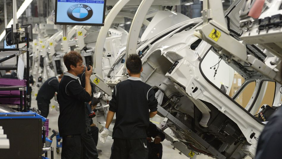 BMW-Werk in Shenyang, China: Wegen des Coronavirus stehen die Bänder bis zum 17. Februar 2020 still