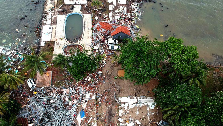 Tsunami: Flutwellen erfassten das Küstengebiet der Sundastraße