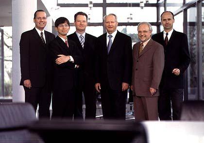 Der Patriarch und sein Führungsteam: Frank Stührenberg, Gunther Olesch, Roland Bent, Klaus Eisert, Heinz Wesch und Martin Heubeck (v.l.)