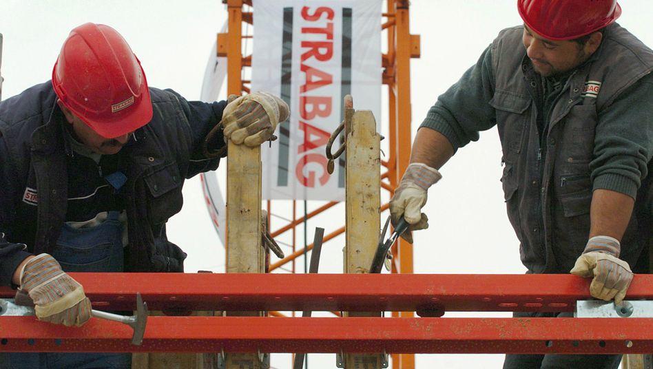 Strabag-Bauarbeiter: Der Bauboom in Polen steht vor dem Ende