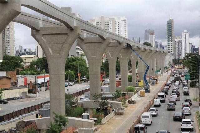 """""""Goldene Linie"""" in São Paulo: Gebaut wird noch, aber nicht mehr für die WM"""