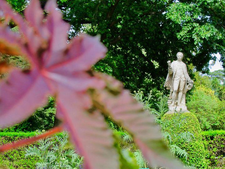 Zwischen all dem Grün stehen im Real Jardin Botanico von Madrid mehrere Statuen spanischer Botaniker.